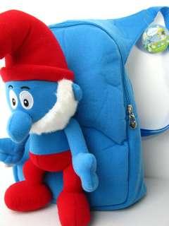 NEW Smurfs PAPA plush blue doll Backpack bag satchel