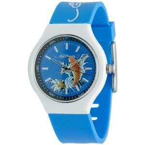 NEW ED HARDY NEO KOI FISH BLUE WATCH
