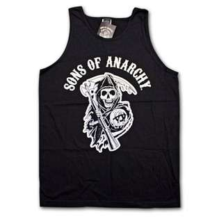 Sons Of Anarchy Classic Reaper Logo Black Mens Graphic Tank Top