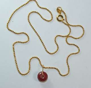 Large 3 carat RUBY gemstone pendant 18kt solid gold bail,necklace TOP