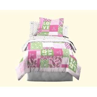 John Deere Bedding Girls Quilt and Sham Set, Twin Size at