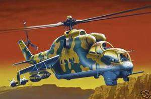 HELLER 1/72 MI 24 HIND A/D HELICOPTER MODEL KIT CHOPPER