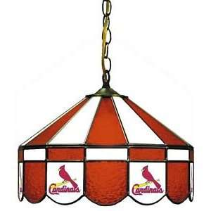 St. Louis Cardinals MLB 16 Stained Glass Pub Lamp   18 3008