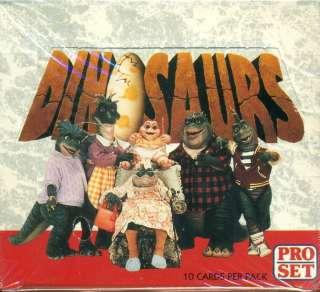 1992 PRO SET DINOSAURS F/S WAX BOX 36 PACKS TRADING CARDS