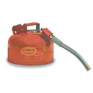 Eagle U2 26 S Type II Gas Safety Can 2 Gallon Metal Red With Flex