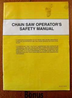 HUSQVARNA 45/49 Chain Saw Operators Manual + Bonus