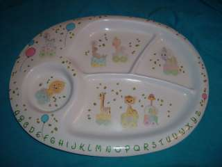 VINTAGE PRECIOUS MOMENTS BABY PLATE 1987 CIRCUS THEME