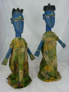 Superb African Tribal Art BAMANA PUPPETS,Sogo bo Couple Figure