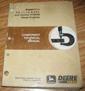 John Deere Yanmar .9 2.0 L Engine Technical Manual 244H