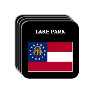 US State Flag   LAKE PARK, Georgia (GA) Set of 4 Mini