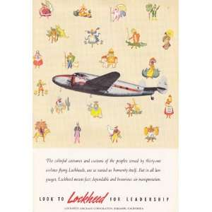 Print Ad 1940 Lockheed Colorful Costumes Lockheed Books