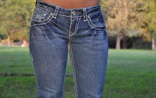 LA Idol jeans SZ 0 15 LIGHT BLUE white stitching BOOT CUT FAST