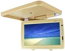 15N Beige 15 High Resolution Flip Down Ceiling Car Monitor w/ Remote