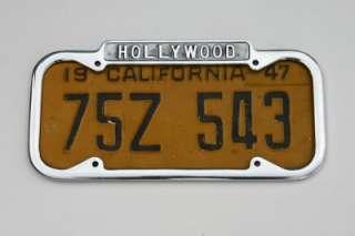 1940 1955 CALIFORNIA License Plate Frame NEW Vintage