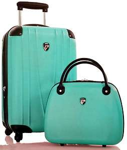 HEYS 360° Spinner 2Pc Luggage Set 21 Carry on & Bellezza Beauty Case