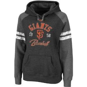 San Francisco Giants Womens Charcoal Raglan Ruby Hooded