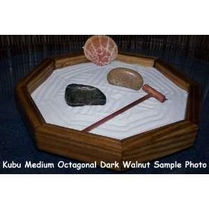 Art of Bali Zen Garden Medium Octagonal Dark Walnut   Feng