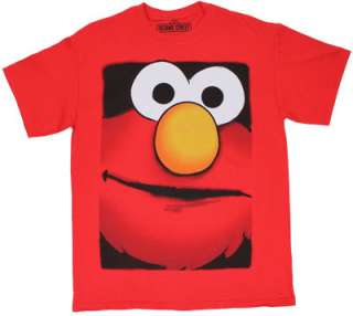Big Face Elmo   Sesame Street T shirt