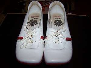 Diesel Hop Womens White/Red Leather Shoes Size 9