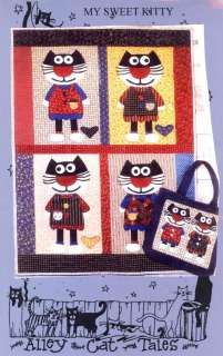 Alley Cat Tales Quilt & Tote Pattern   My Sweet Kitty