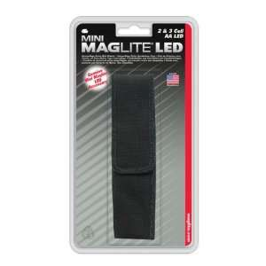 Nylon Full Flap Sheath AA LED Black:  Sports & Outdoors
