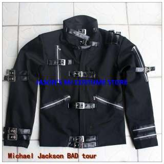 NEW MICHAEL JACKSON BLACK BAD JACKET Pro Series
