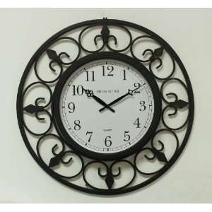 Large Wrought Iron Wall Clock:  Home & Kitchen