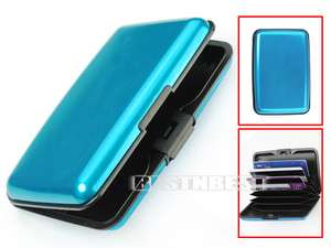 New Business Name ID Credit Card Wallet Holder Aluminum Metal Case Box