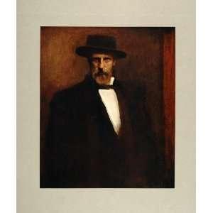 1905 Print Self Portrait German Artist Leo Samberger