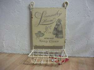 ANTIQUE STYLE REPRO~CHIC SOAP RACK Laundry room