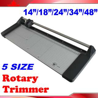 34 48Manual Portable Sharp Rotary PVC Paper Trimmer Cutter