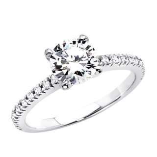 Round Solitaire CZ Cubic Zirconia Wedding Engagement Ring Band