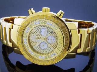 MENS RAYALTY 40 DIAMONDS 52MM YELLOW GOLD WATCH