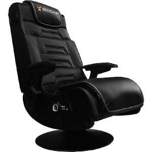 Rocker Pro Black Faux Leather Series Gaming Chair w/ Pedestal 51396