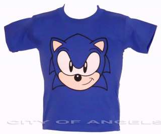 Sonic The Hedgehog Funny T shirt Blue Kids SEGA Gaming Children