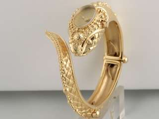 ROBERTO CAVALLI EVA SNAKE GOLD PLATED LADIES WATCH