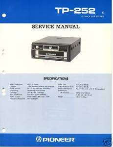 Original Service Manual Pioneer TP 252 Car Unit