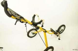 Sun Mountain V1 Golf Push Pull Speed Cart 3 Wheels Yellow Black