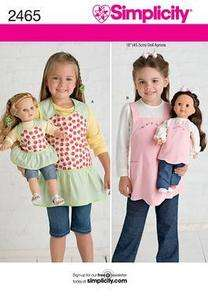 Doll Clothes/Child Matching Aprions fit American Girl &18doll
