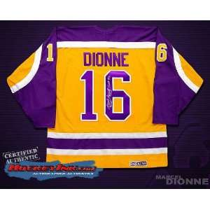 Signed Marcel Dionne Jersey   Los Angeles Kings Yellow   Autographed