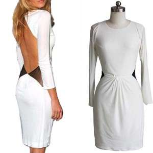 Sexy White Sleeves Spandex Evening Cocktail Mini Prom Gown Party Women