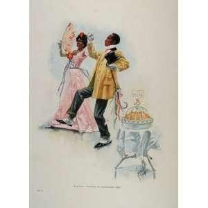 1902 Print Cakewalk Black Americana Dance Cucuel NICE