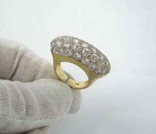 Vintage 5ct Diamond G VS 14K 2 Tone Solid Gold Ring   Size 6