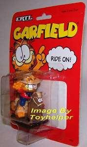GARFIELD RIDE ON DIE CAST COWBOY ROCKING HORSE VINTAGE