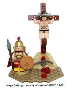 of Jesus   Son of God on Cross & Roman Soldier Minifigure   minifig