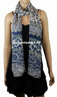 Elegant Super Large 80x30 Animal Print Fashion Shawl Wrap Scarf