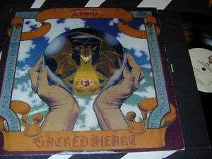 Ronnie James DIO Sacred Heart LP Dragon Cover LP Warner