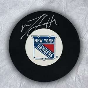 MICHAEL DEL ZOTTO New York Rangers AUTOGRAPHED Hockey Puck