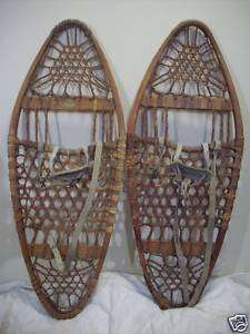 Vintage Snocraft Snowshoes Snow Shoes 13X33 Cabin Decor
