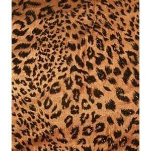 Flocked Leopard Sparkle Fabric: Arts, Crafts & Sewing